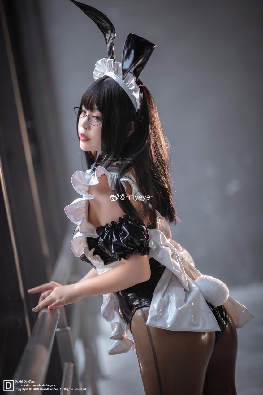「-niyeye-」Maid兔女郎 cos #初物语动漫展返图场照